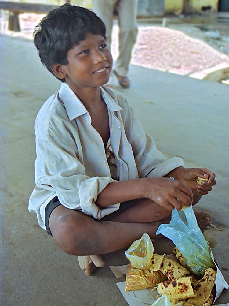 Prakash à la gare de Howrah en mai 1999