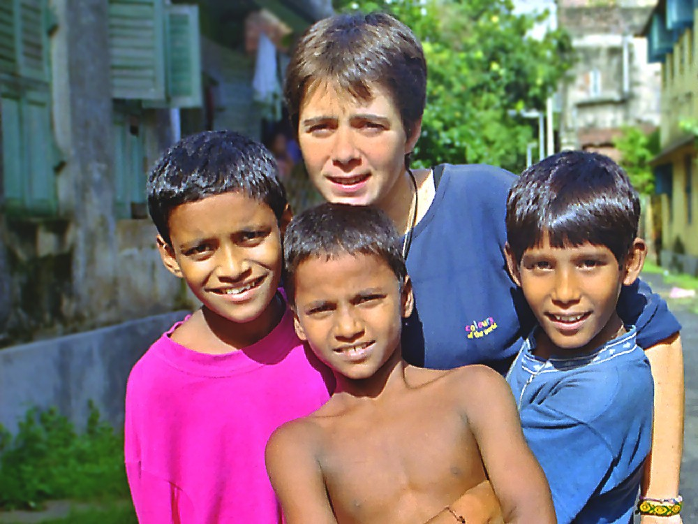 Fabienne, avec Sanjay, Antony et Nooralam