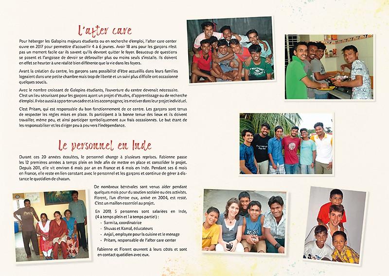 Page de la brochure 'Les 20 ans des Galopins'
