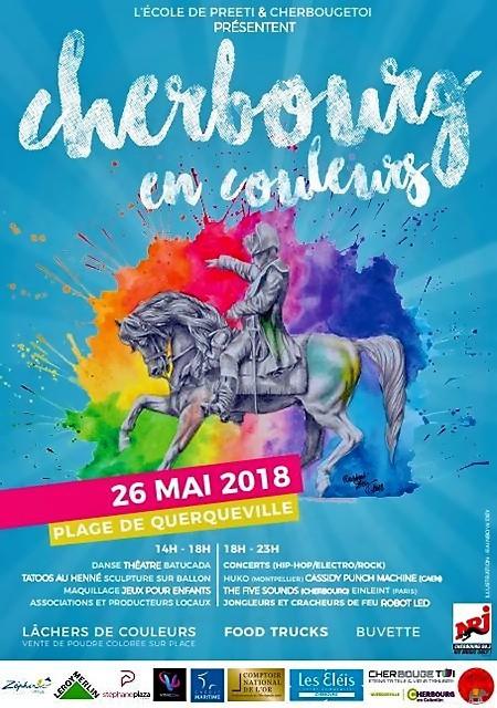Affiche du festival Cherbourg en couleurs