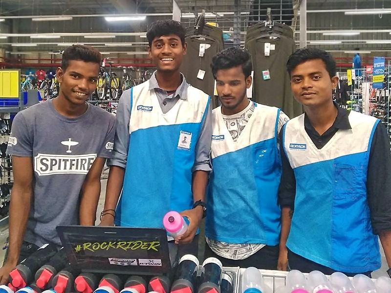 Syed et Govindha à Decathlon à Kolkata