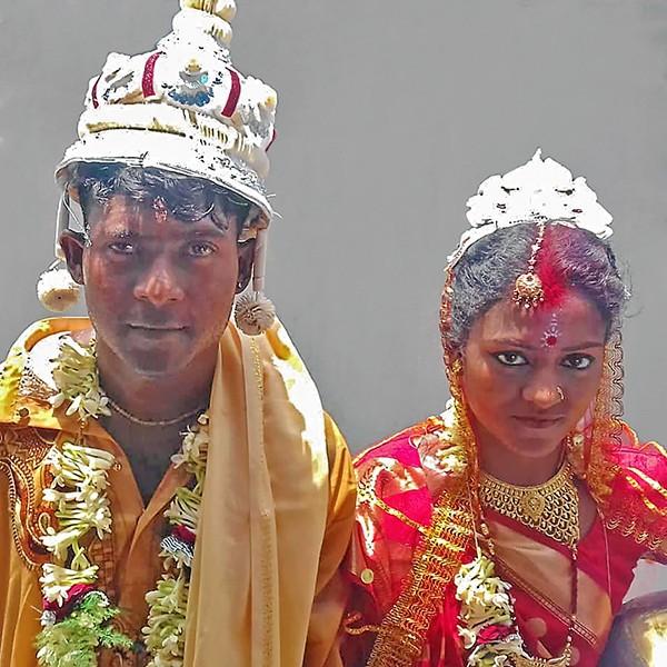 Sumir et Sanchita en mariés