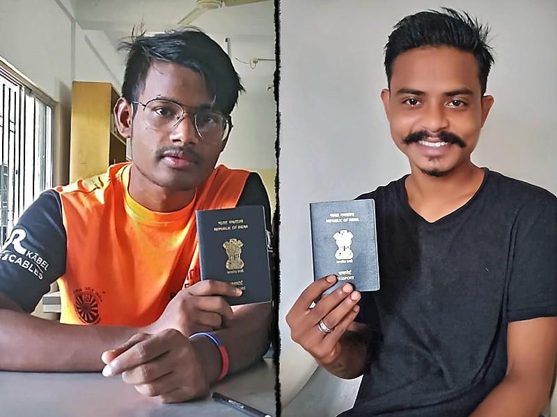 Rafiq et Govindha avec leur passeport tout neuf...