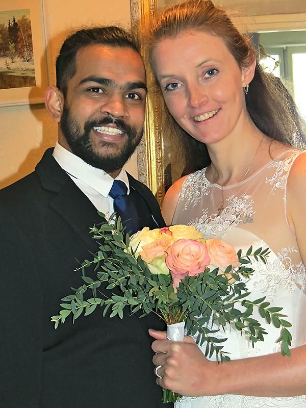 Sashi et Stéphanie, jeunes mariés