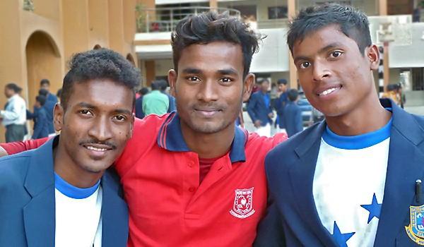 Jayanta, Sanjit et Sanju
