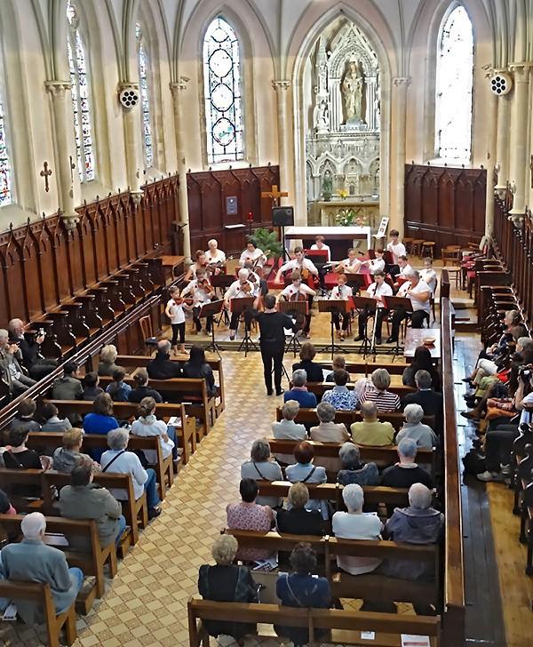 Vue d'ensemble du concert de l'Orchestre Jubilate