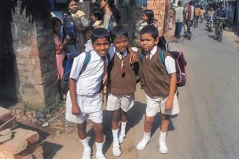 Sanatan, Govindha et Sashi en novembre 2002