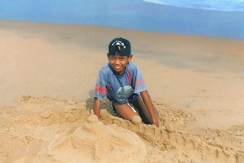 Raja à la plage