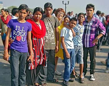 Six Galopins en touriste à Mumbai