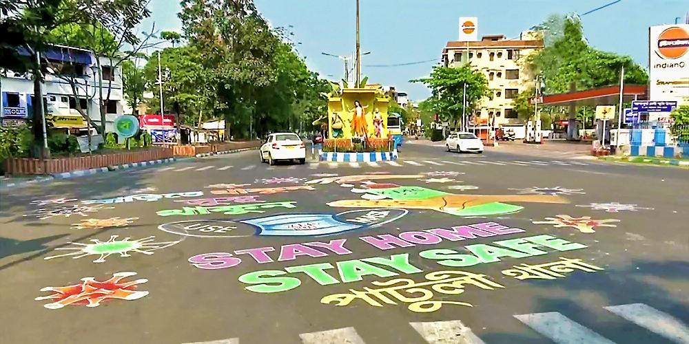 Les rues de Kolkata, capitale confinée du West Bengal